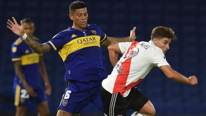 Rojo trong một trận khoác áo Boca Junior. Ảnh: AFP.