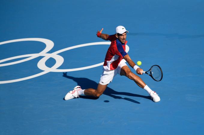 Djokovic không lặp lại kết quả thua vòng một Olympic như ở Rio cách đây 5 năm. Ảnh: Reuters