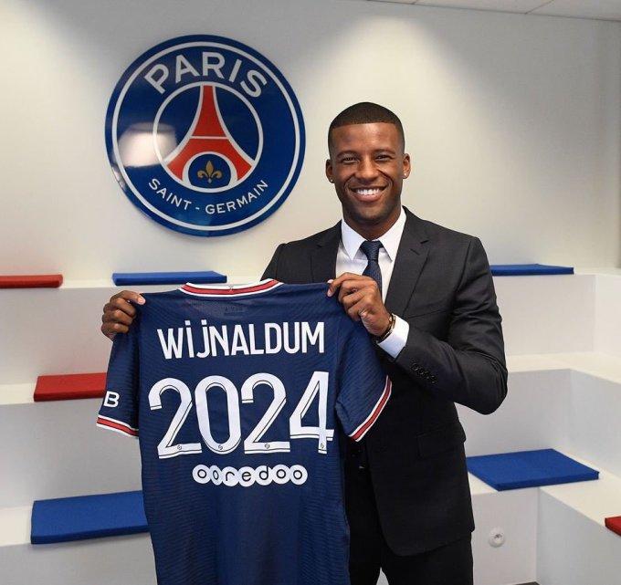 Wijnaldum sẽ khoác áo PSG trong ba năm. Ảnh: PSG.fr