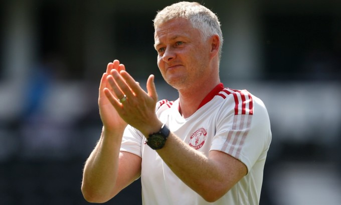 Man Utd tiếp tục tin tưởng Solskjaer dù ông chưa đoạt danh hiệu. Ảnh: Reuters.