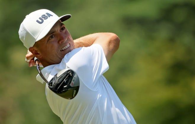 Justin Thomas thuộc số golfer được đánh giá cao, nhưng khởi đầu không thật tốt tại Olympic 2020. Ảnh: AP