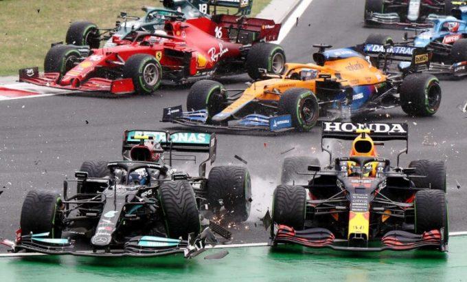 Vụ va chạm khiến cuộc đua hỗn loạn ngay khi khởi đầu. Ảnh: F1.