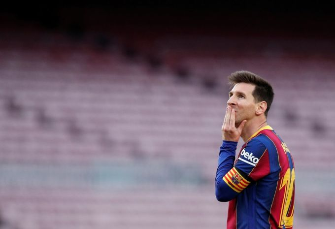 Messi sẽ rời sân Camp Nou sau 21 năm gắn bó. Ảnh: EFE.