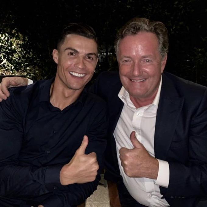 Morgan được cho là nhà báo thân thiết với Ronaldo. Ảnh: Instagram / Ronaldo