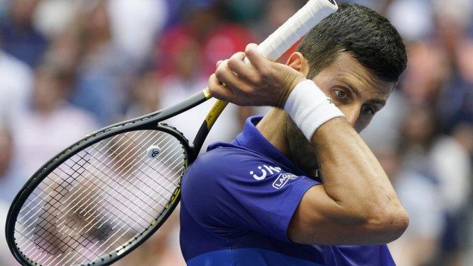 Djokovic thắng 44 và thua sáu trận mùa này. Ảnh: US Open