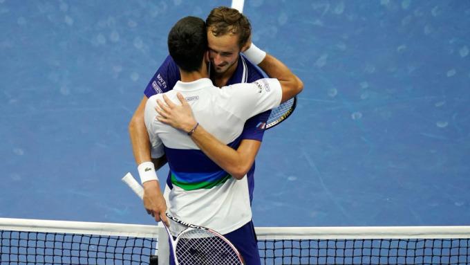 Trước khi hạ Djokovic, Medvedev thắng nhiều trận nhất và vô địch nhiều giải nhất ở ATP ba năm gần đây. Ảnh: US Open