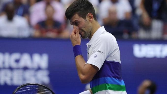 Djokovic có cùng thành tích thua 11 trong 31 trận chung kết Grand Slam như Federer. Ảnh: US Open
